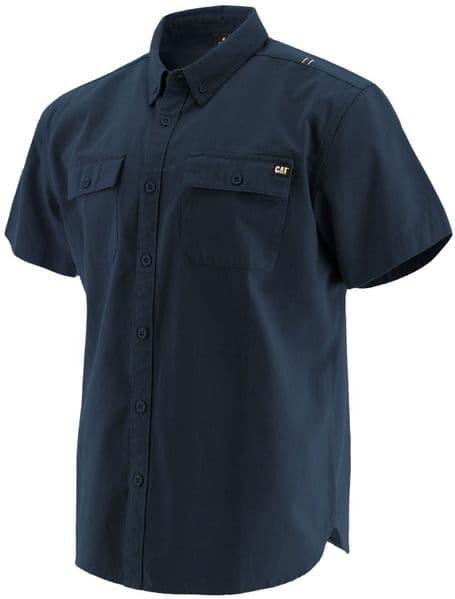 Caterpillar Button Up S/S Shirt Shirts Navy